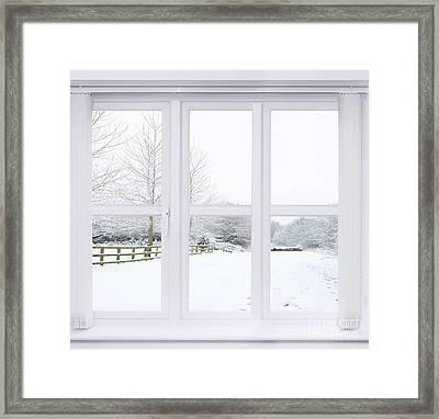 Winter Window Framed Print by Amanda Elwell