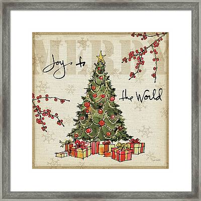 Winter Wishes I Framed Print by Anne Tavoletti