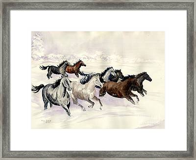Winter Wishperer Framed Print by Melly Terpening