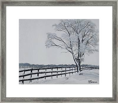 Winter Wonderland Framed Print by Melissa Torres