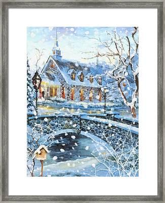 Winter Wonderland Framed Print by Mo T