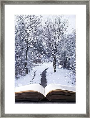Winter Woodland Book Framed Print by Amanda Elwell