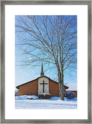 Winter Worship Framed Print by Bill Tiepelman