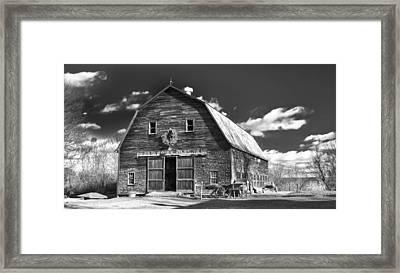 Winterberry Farm Framed Print by Guy Whiteley