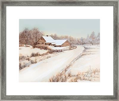 Winterness Framed Print by Michelle Wiarda