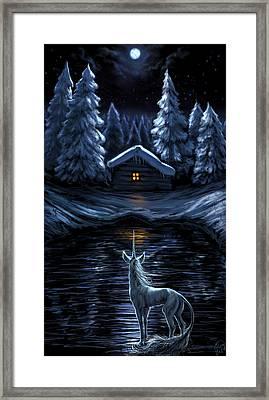Winter's Chill Framed Print by Katerina Romanova