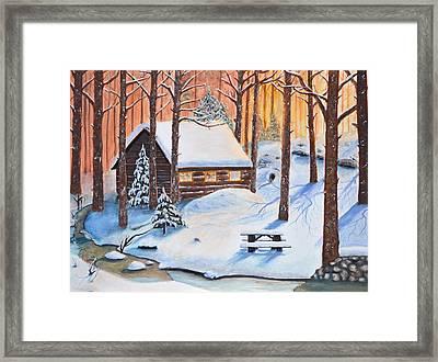 Winters Escape Framed Print by Ken Figurski