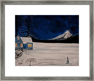 Winter's Eve Framed Print by Ian Donley