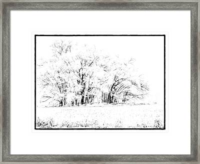 Winters Frost Framed Print by Thomas Young