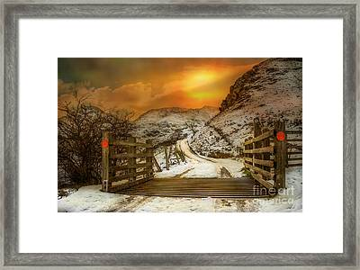 Winters Gate Framed Print by Adrian Evans