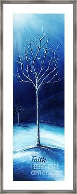 Winter's Hope Framed Print by Shevon Johnson