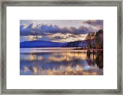 Winters Lake Framed Print by Dave Woodbridge