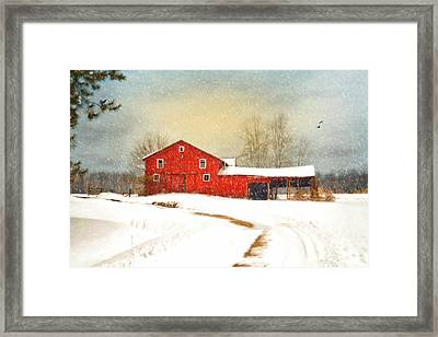 Winters Morning Framed Print by Mary Timman