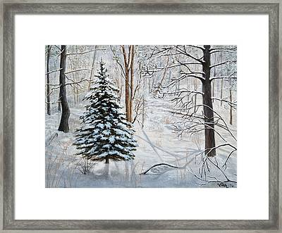 Winter's Peace Framed Print by Vicky Path