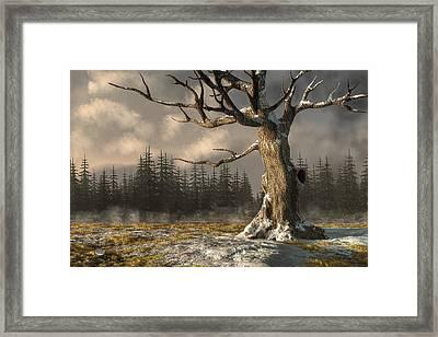 Winterscape Framed Print by Daniel Eskridge
