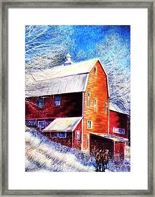 Winterscape Framed Print by Raffi  Jacobian