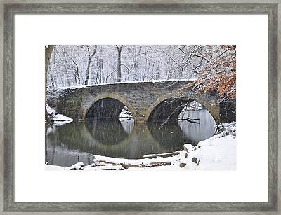 Wintertime At Bells Mill Road Framed Print by Bill Cannon