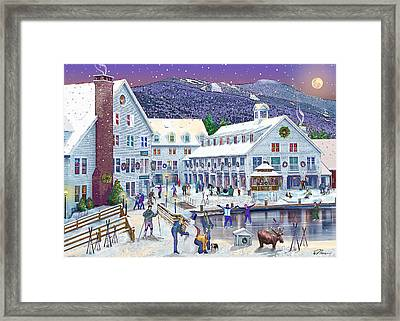 Wintertime At Waterville Valley New Hampshire Framed Print by Nancy Griswold