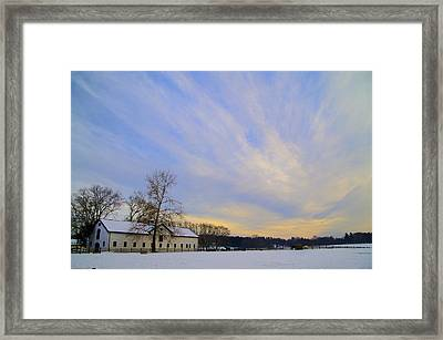 Wintertime At Widener Farms Framed Print by Bill Cannon