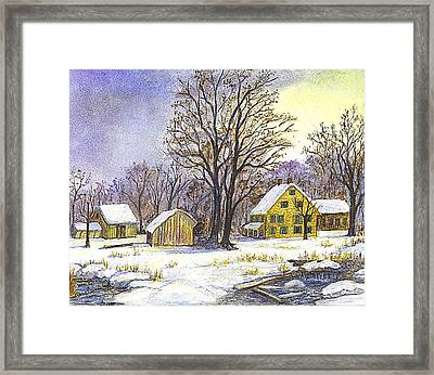 Wintertime In The Country Framed Print by Carol Wisniewski
