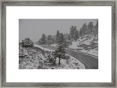 Wintry Climb Framed Print by Harry Strharsky