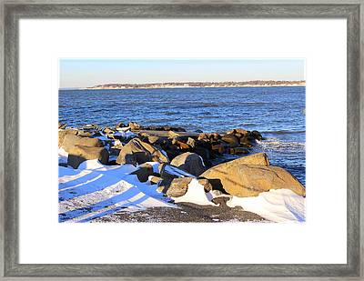 Wintry Day At The Bay Framed Print by Dora Sofia Caputo Photographic Art and Design