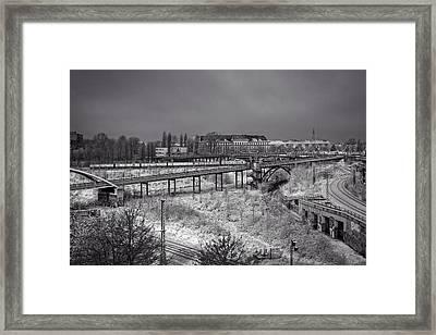 Wintry Ride On Berlin's S-bahn Framed Print by Mountain Dreams
