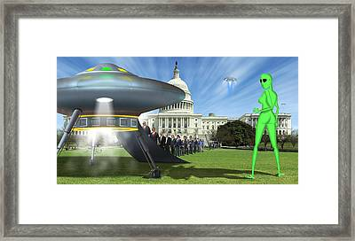 Wip - Washington Field Trip Framed Print by Mike McGlothlen