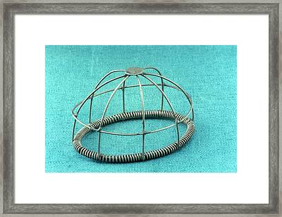 Wire Frame Anaesthesia Mask Framed Print by Science Photo Library