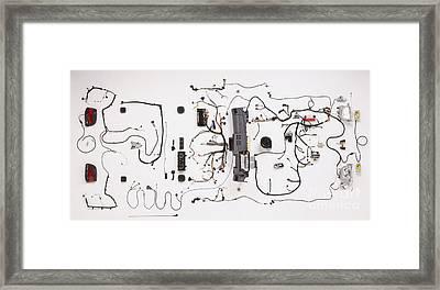 Wiring Of Modern Car Framed Print by Dave Rudkin / Dorling Kindersley