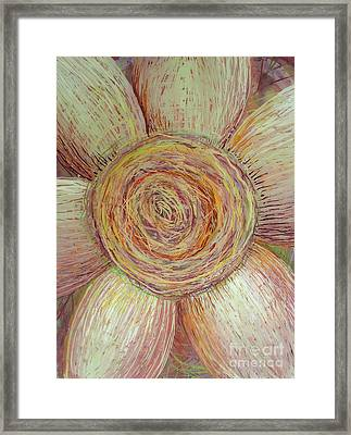 Wiry Sunflower Framed Print by Anna Skaradzinska