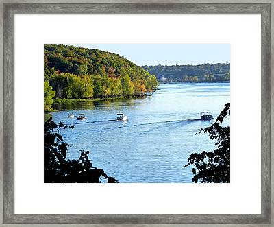 Wisconsin And Minnesota Framed Print by Will Borden