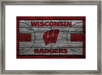 Wisconsin Badger Framed Print by Joe Hamilton