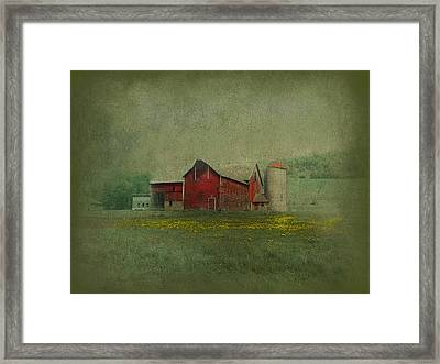 Wisconsin Barn In Spring Framed Print by Jeff Burgess