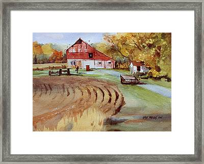 Wisconsin Barn Framed Print by Kris Parins
