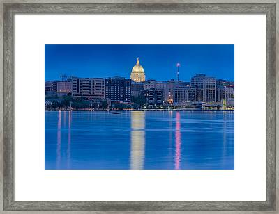 Wisconsin Capitol Reflection Framed Print by Sebastian Musial
