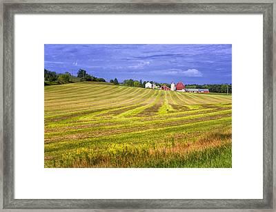 Wisconsin Dawn Framed Print by Joan Carroll