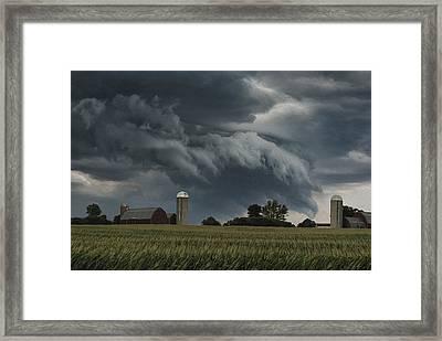 Wisconsin Farm Framed Print by Jack Zulli