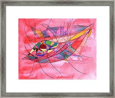 Wisdom Of The Heart - Abundance And Security - Raziel Framed Print by Alla Ilencikova