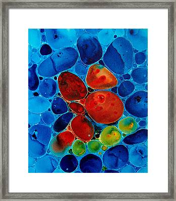 Wishing Stones Framed Print by Sharon Cummings