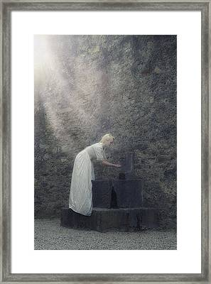 Wishing Well Framed Print by Joana Kruse