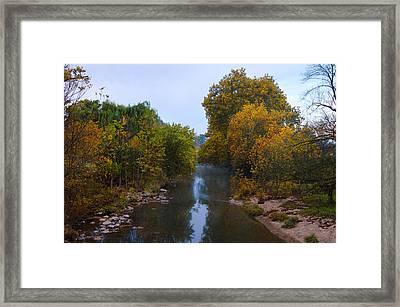 Wissahickon Creek In Whitemarsh Framed Print by Bill Cannon