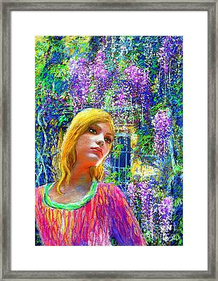 Wisteria Framed Print by Jane Small