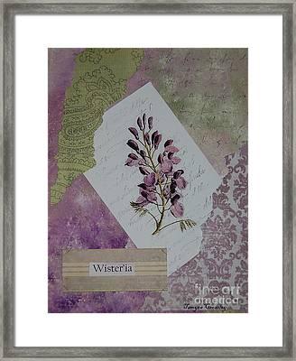 Wisteria Framed Print by Tamyra Crossley