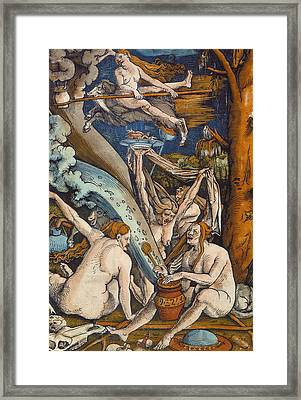 Witches Framed Print by Hans Baldung Grien