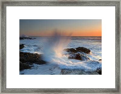 With Force Framed Print by Mike  Dawson