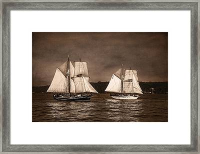 With Full Sails Framed Print by Dale Kincaid