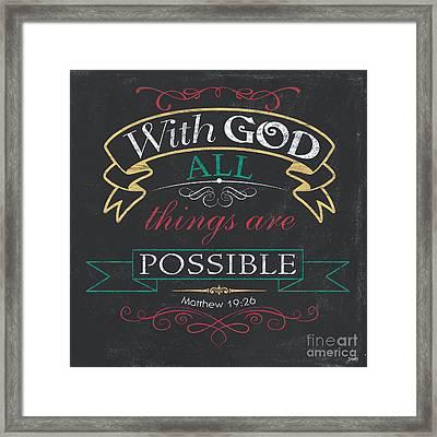 With God Framed Print by Debbie DeWitt