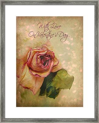 With Love On Valentine's Day Framed Print by Shirley Sirois