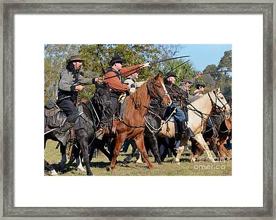 With Swords Drawn Framed Print by Kathy Baccari